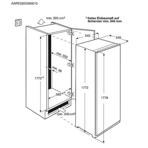 Electrolux 178cm A+ ForstFree integreeritav sügavkülmik EUN2244AOW