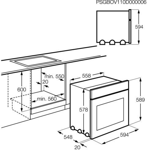 Electrolux integreeritav ahi EOB43410OX