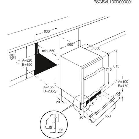Electrolux sügavkülmaosaga 82cm integreeritav külmik-sügavkülmik ERN1200FOW