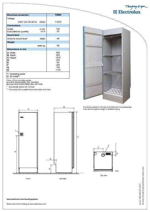 Kuivatuskapp Electrolux professionaalne TS560