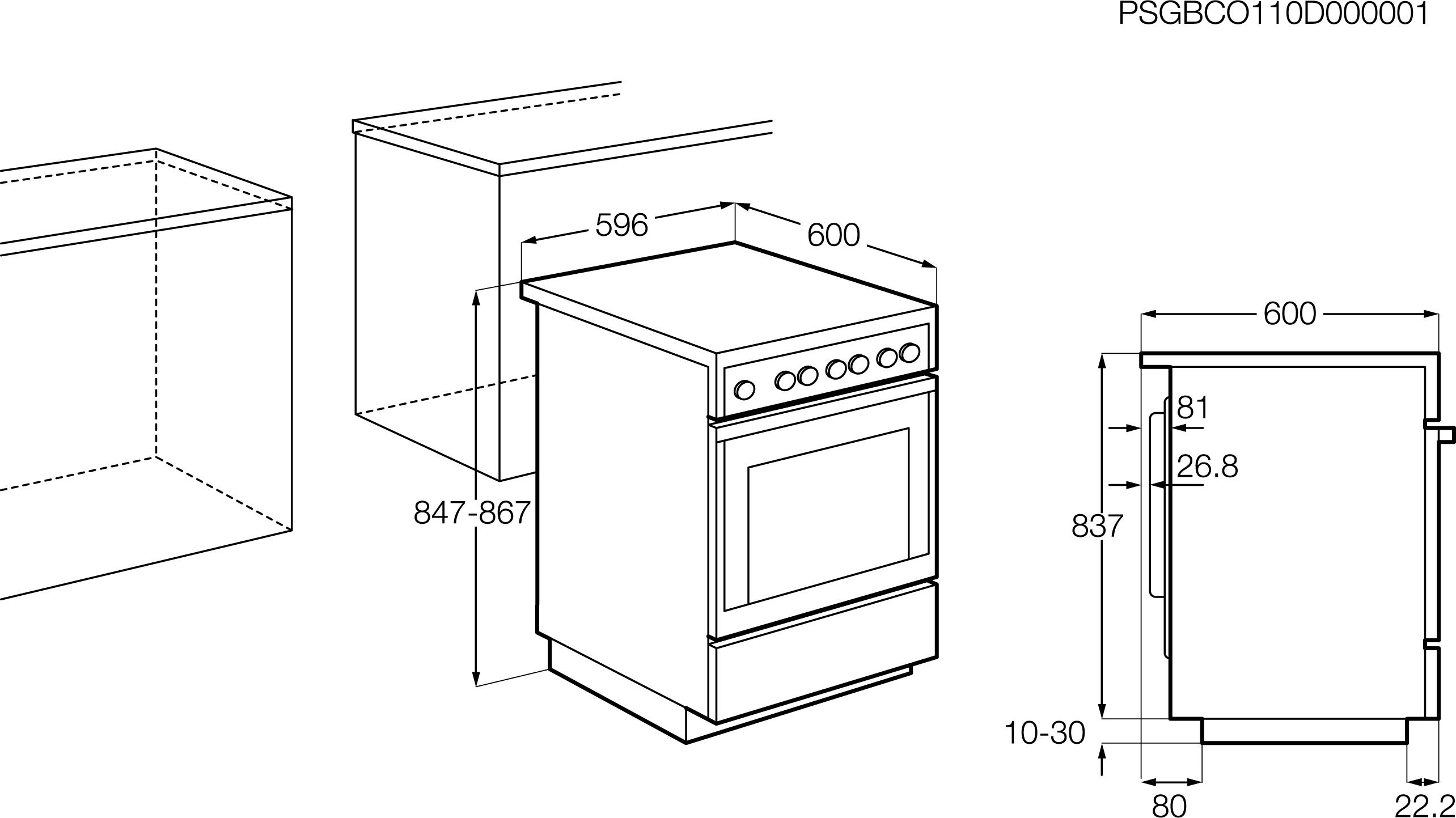 12a8f6b4a6c AEG 60cm MaxiKlasse ahjuga induktsioonpliit 47036IU-MN paigaldusjoonis. Electrolux  60cm roostevaba induktsioonpliit EKI6451AOX ...
