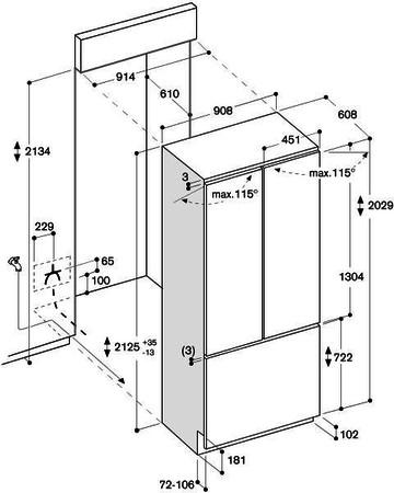 gaggenau integreeritav vee ja j masina ning s gavk lma sahtliga side by side k lmik ry492 301. Black Bedroom Furniture Sets. Home Design Ideas