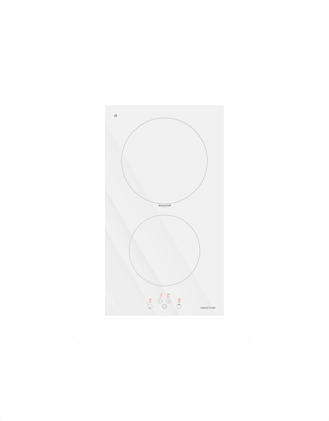 Decoland valge Domino 30 cm induktsioonplaat IN30W