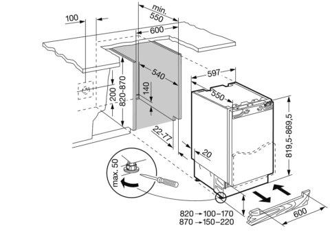 Liebherr 60cm integreeritav SuperCool sahtelkülmikUIK1550-20
