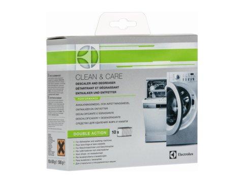 Nõude- ja pesumasina katlakivi- ja rasvaeemaldi CLEAN & CARE