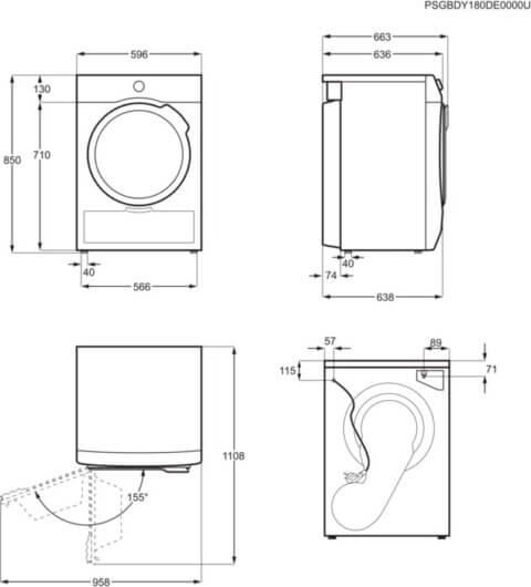AEG A++ vaikne ProSense® 8kg soojuspumbaga pesukuivati T8DBG48S