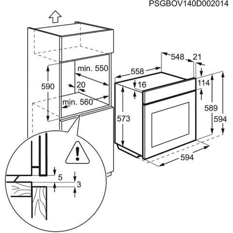 Electrolux PlusSteam-funktsiooni ja grilliga ahi EOB5454AOX