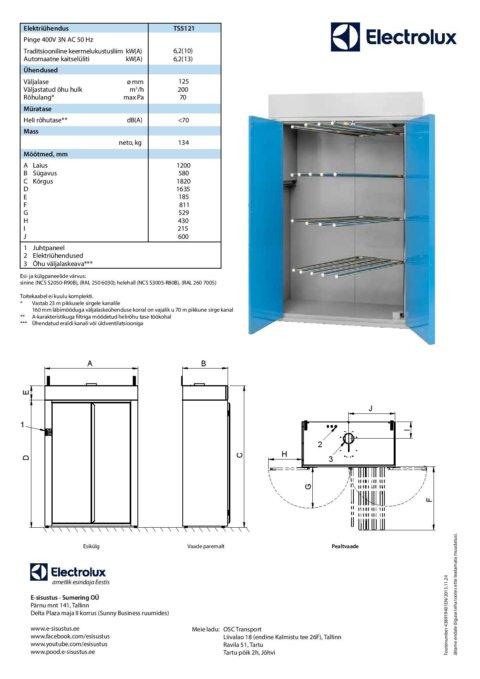 Electrolux professionaalne kuivatuskapp TS5121