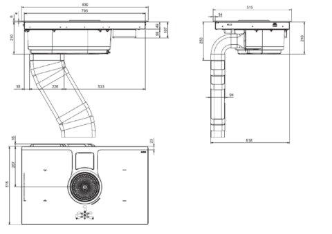ELICA 83cm induktsioonpliidiplaat koos õhupuhastiga NIKOLATESLA BL A 83