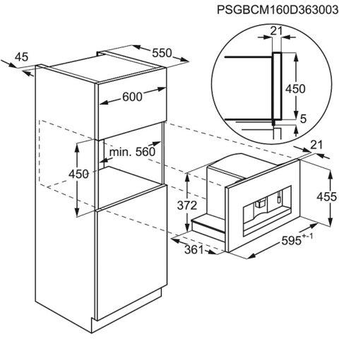 AEG integreeritav kompaktne kohvimasin KKK884500M