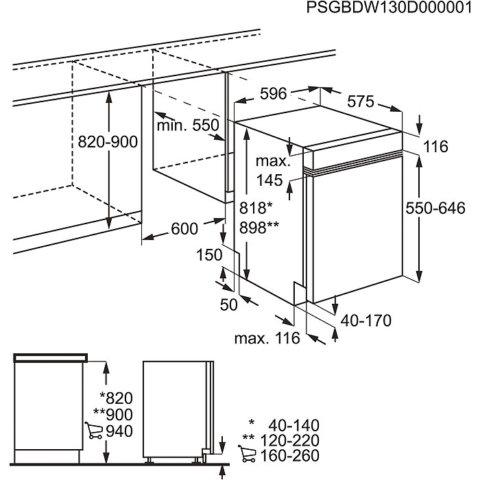 Electrolux integreeritav roostevaba paneeliga A+++ 60cm nõudepesumasin ESI8730RAX
