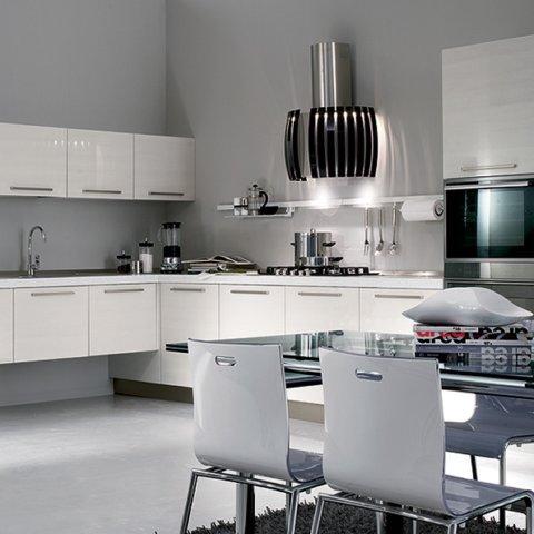 Falmec Prestige teras + valge või must klaas 65cm seina-õhupuhastaja AISI304