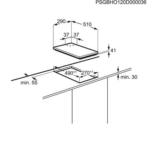 Electrolux integreeritav Domino gaasipliidiplaat EGG3322NVX