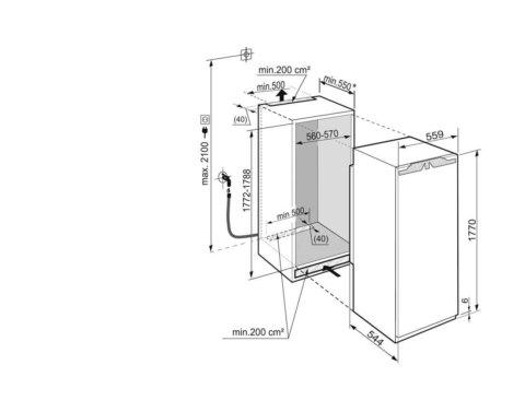 Liebherr 178cm jäävaba NoFrost sügavkülmik SIGN3576-20, jäämasin