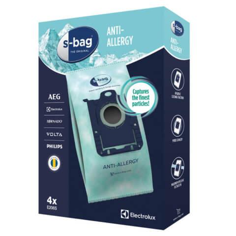 s-bag® Hygiene Anti-Allergy tolmukotid 4tk Electrolux E206S