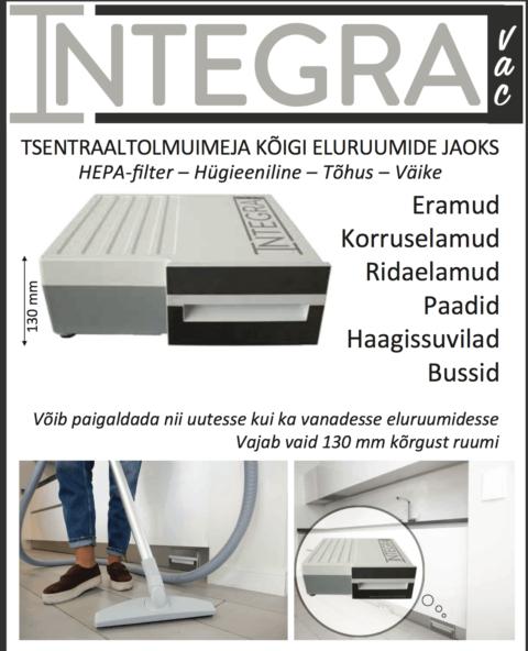 INTEGRAVAC integreeritav kompaktne keskustolmuimeja1