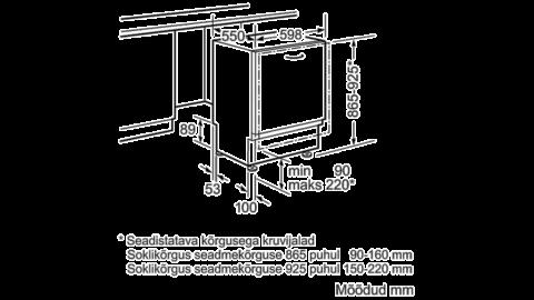 Nõudepesumasin 60cm täisintegreeritav Bosch SBV88TX36E Zeolith