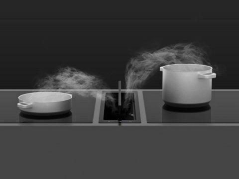Integreeritav tööpinna õhupuhasti musta klaasiga SDD17