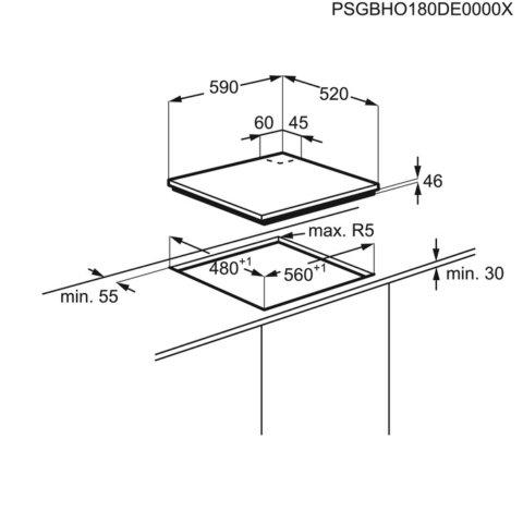 Electrolux kiirpõletiga gaasipliidiplaat KGG6426K