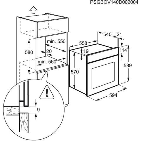 Electrolux roostevaba integreeritav ahi EZB3411AOX