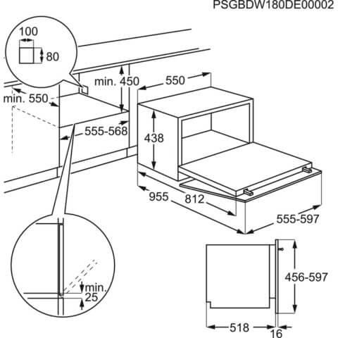 Electrolux täisintegreeritav A+ kompaktne 55cm nõudepesumasin ESL2500RO
