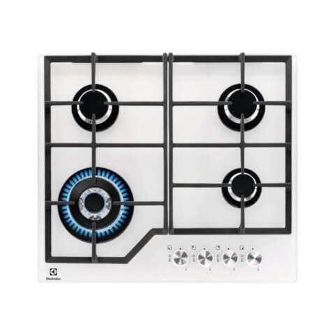 Electrolux valge kiirpõletiga gaasipliidiplaat KGG6436W