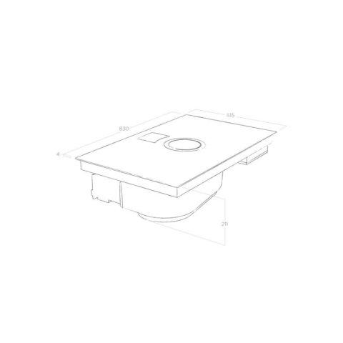 ELICA 83cm induktsioonpliidiplaat koos õhupuhastiga NIKOLATESLA SWITCH WH/A/80