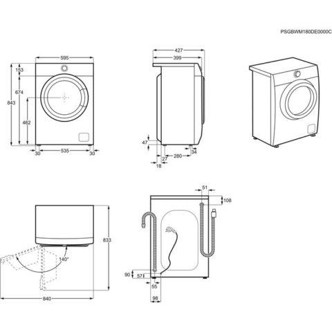 Pesumasin A+++ 6kg 1000 p/m Electrolux PerfectCare 600 EW6S406BX