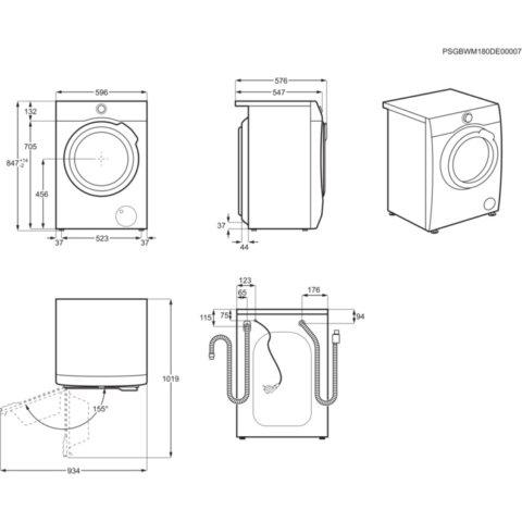 Electrolux 7kg/4kg pesumasin-kuivati PerfectCare 700 EW7W447W