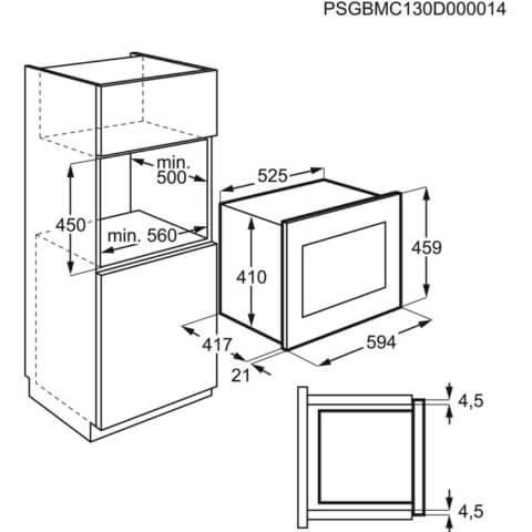 Electrolux integreeritav must grillfunktsiooniga mikrolaineahi KMFD264TEX