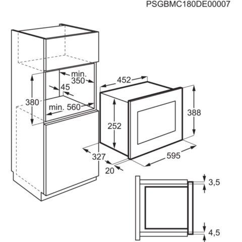 Electrolux integreeritav must mikrolaineahi LMS2203EMX