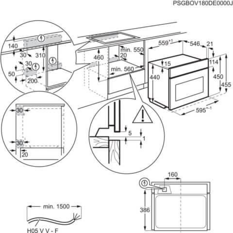Electrolux valge kompaktahi mikrolaineahju- ja grillfunktsiooniga EVK8E00V