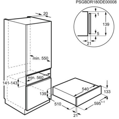 Electrolux integreeritav 14 cm vaakumpakendaja KBV4T