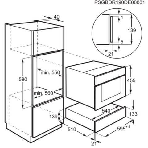 Electrolux integreeritav 14 cm vaakumpakendaja KBV4X