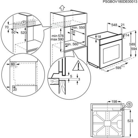 Electrolux toidutermomeetriga SteamBake pürolüüsahi EOD6P71Z