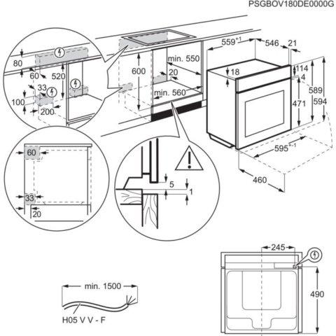Electrolux toidutermomeetriga multifunktsionaalne auruahi EOB7S31X
