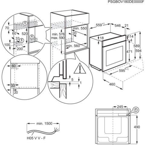 Electrolux toidutermomeetriga multifunktsionaalne auruahi EOB7S31Z