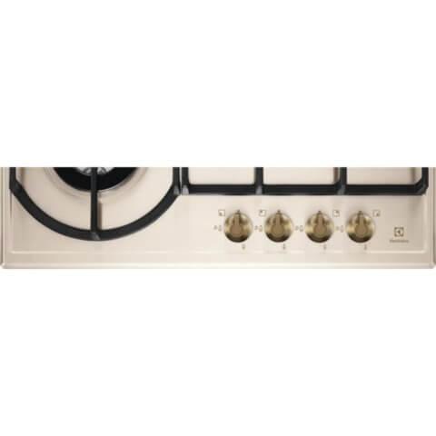 Electrolux kreemja värvusega kiirpõletiga gaasipliidiplaat EGH6343RON