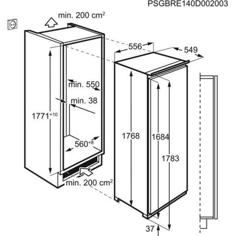 AEG 178cm eriti vaikne A++ 0°C integreeritav jahekapp SFE81826ZC