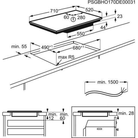 Electrolux 71cm Hob2Hood SenseFry induktsioonpliidiplaat EIS7548