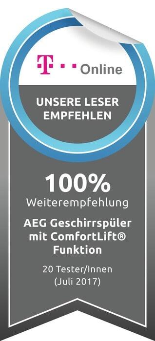 AEG 60cm A+++ vaikne ComfortLift nõudepesumasin FSK93807P