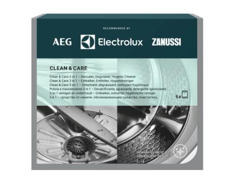 Nõude- ja pesumasina katlakivi- ja rasvaeemaldi CLEAN & CARE (6tk)
