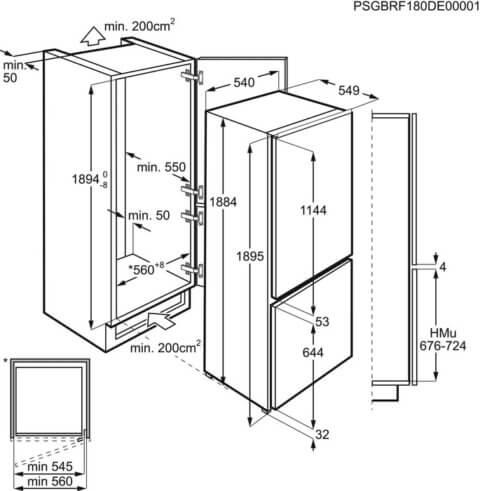 Integreeritav külmik Electrolux FrostFree 188cm A++ LNS9TE19S