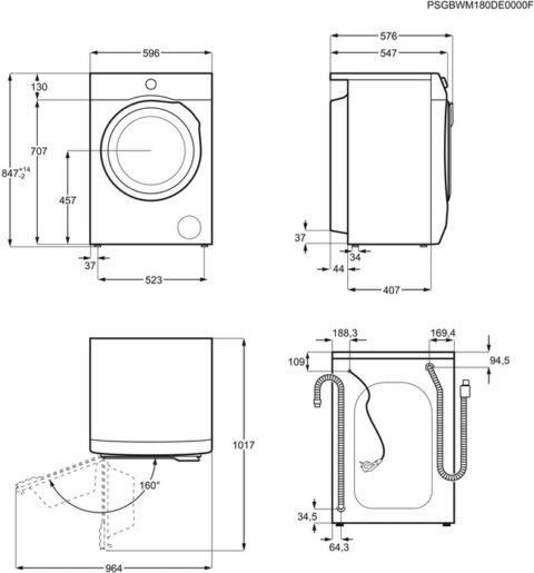 Pesumasin A+++ 8kg 1200 p/m Electrolux Sensicare EW6F428B