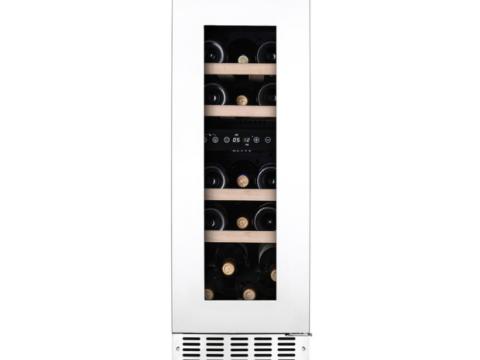 Valge tööpinnaalune kahe tsooniga veinikülmik Temptech OBIU30DW-3G