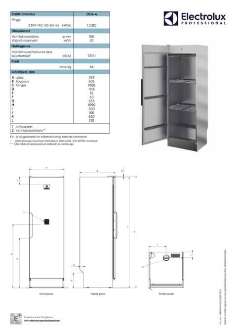 Professionaalne kuivatuskapp Electrolux DC6-4 (enne TS560 )