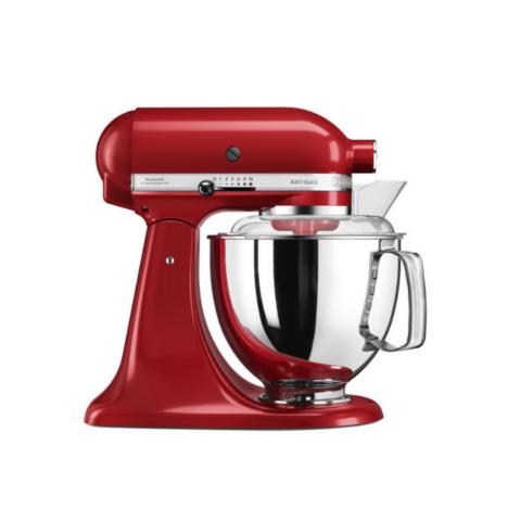 KitchenAid Artisan punane mikser Elegance 4.8L anumaga