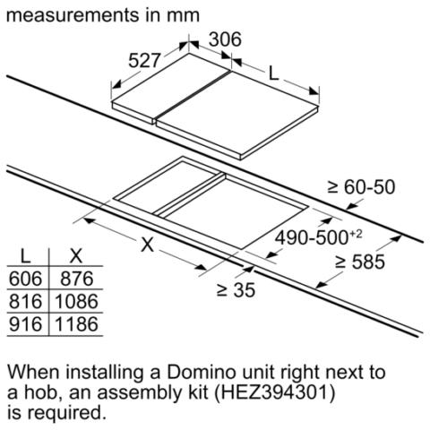 Neff N90 domino 30cm gaasipliidiplaat