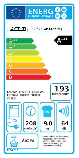 Miele @home soojuspumbaga 9kg pesukuivati TEJ675WP