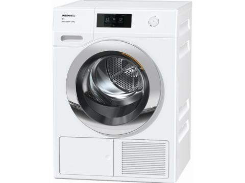 Miele soojuspumbaga säästlik SteamFinish 9kg pesukuivati TCR870WP
